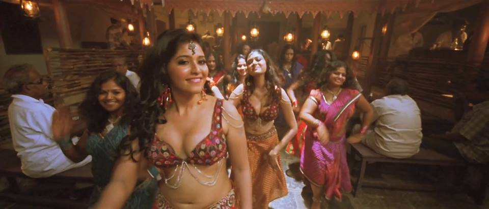 Actress Anjali Huge Navel and Cleavage Show Fake Boobs