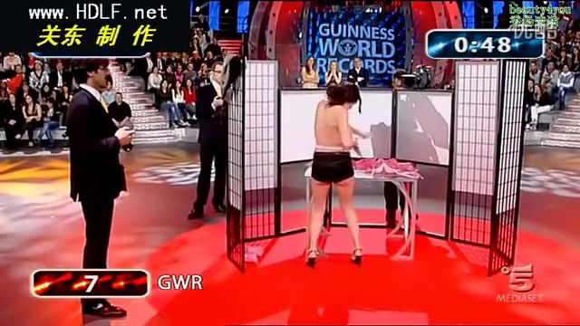 Breaking the Guinness record 1 minute change bra