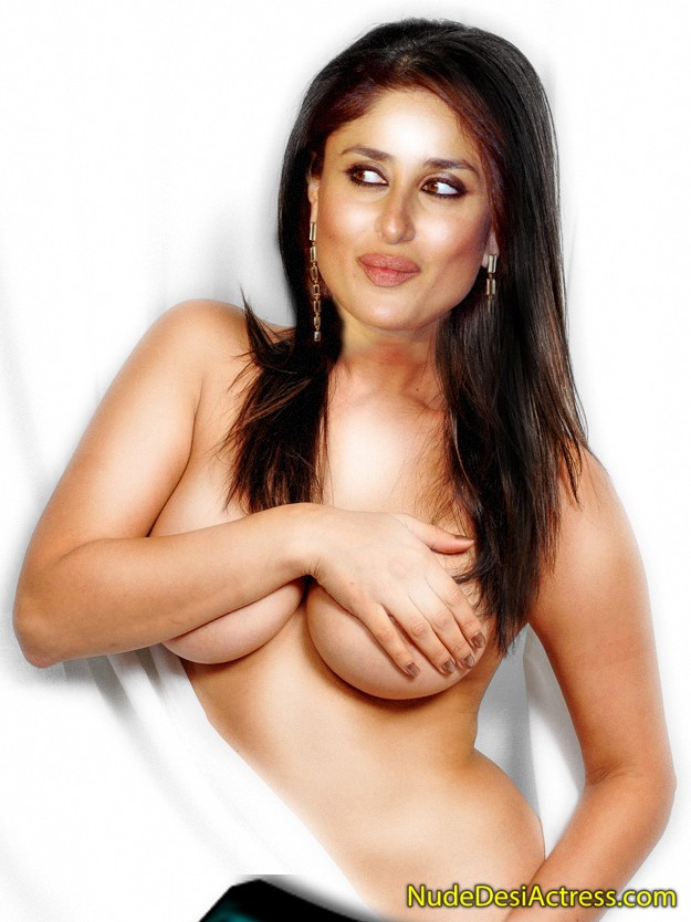 Kareena kapoor flaunting her cleavage in sultry blouse