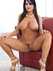 Big fake boobs Anushka Shetty spreading her legs hairy pussy show