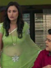 Serial actress transparent saree navel | sexy saree navel | hot saree navel cleavage video